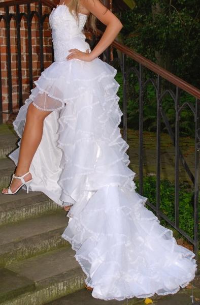 6836965837 Przepiękna Suknia Ślubna Hiszpanka roz.38 Dopiewo