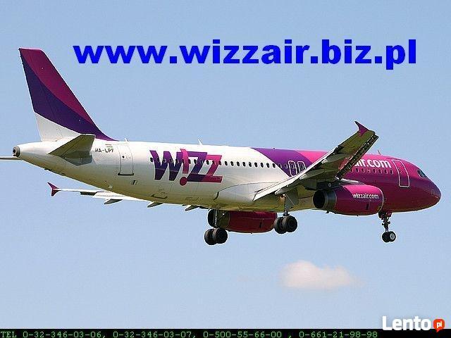 Tanie bilety lotnicze Wizzair! tel. 323460306