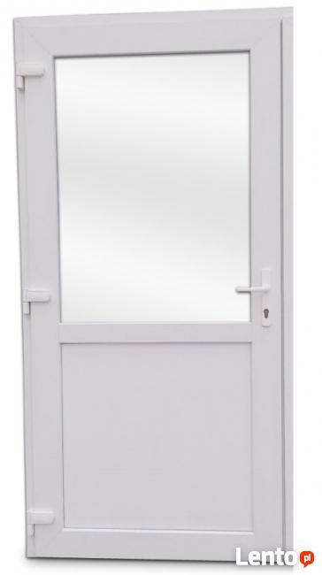 Drzwi zewnętrzne PCV białe typowo usługowe hit!!