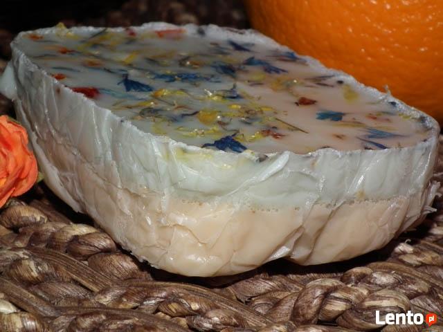 Mydło naturalne ręcznie robione Wanilia i pomarańcza