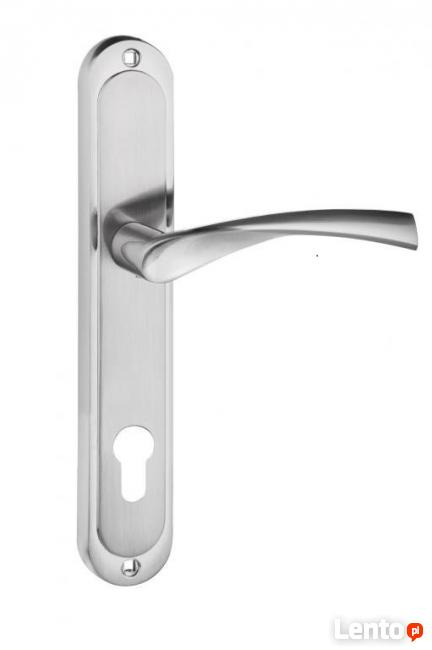 klamka drzwiowa z długim szyldem 72mm na wkład !!!