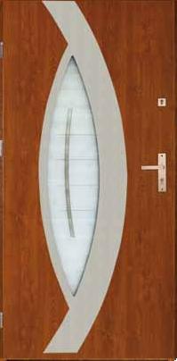 Drzwi stalowe zewnętrzne model Praga złoty dąb