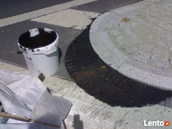 Workowane kruszywa dekoracyjne i asfalt na zimno