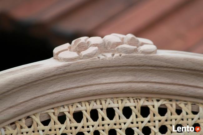 Krzesło z rafią rattanową - surowy stelaż