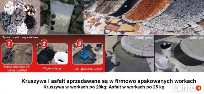workowane kruszywa i asfalt na zimno -wypożyczalnia Dęblin