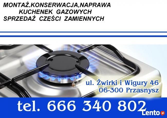 Naprawa i montaż kuchenek gazowych