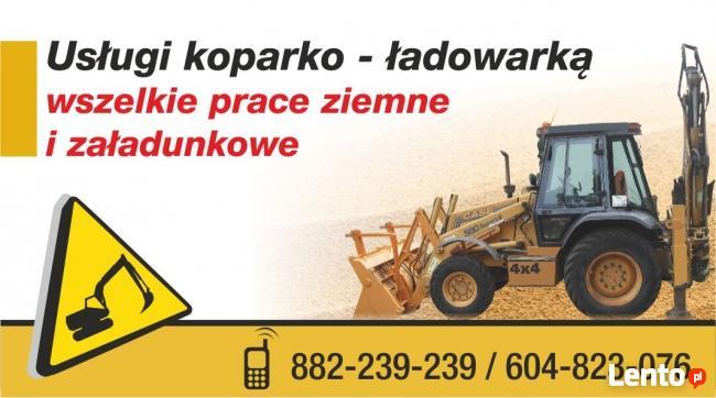 Usługi koparko-ładowarką Białystok i okolice