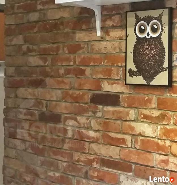 Płytki z lica cegły CEGŁA ROZBIÓRKOWA stary mur