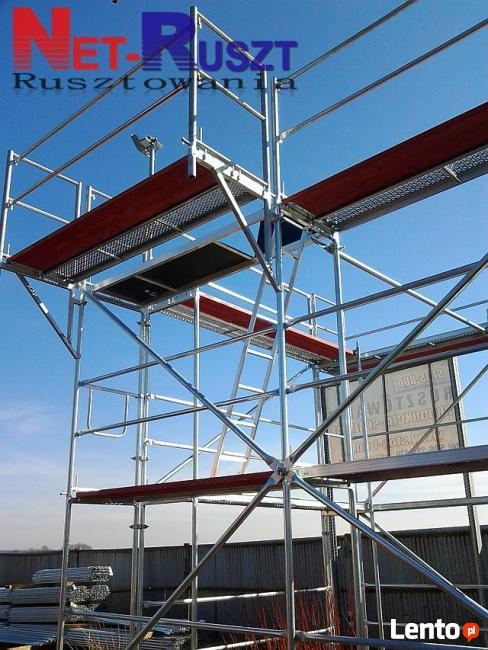 Rusztowanie 82 m2 sys. Plettac podesty 2,5m drewniane
