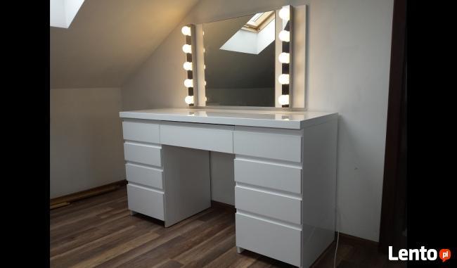 PROMOCJA !! Toaletka lakierowana biała na wysoki połysk