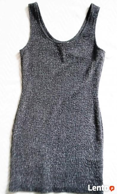 Srebrna sukienka S/M