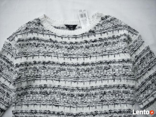 F&F Sweter Włochaty Elegancki NOWY 38 M