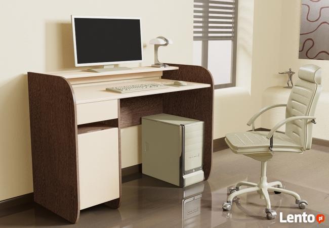 Nowoczesne biurko komputerowe Detalion dwu kolorowe