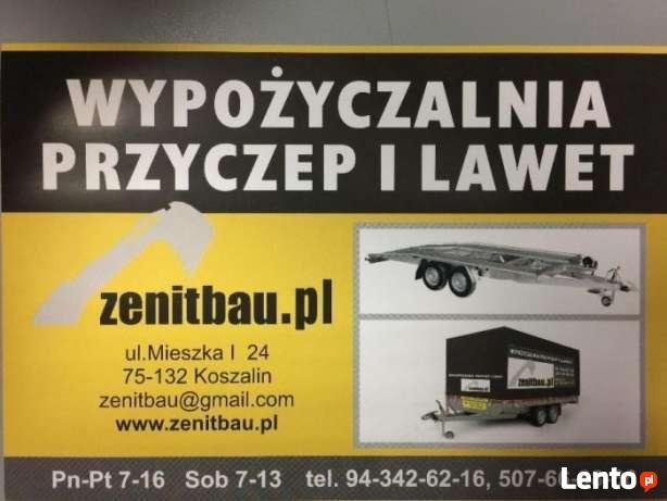 Wypożyczalnia lawet i przyczep w Koszalinie - Zenitbau