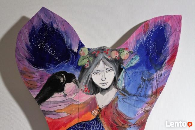 Obraz na drewnie ANIOŁ MAGICZNY 2 artystki A. Laube
