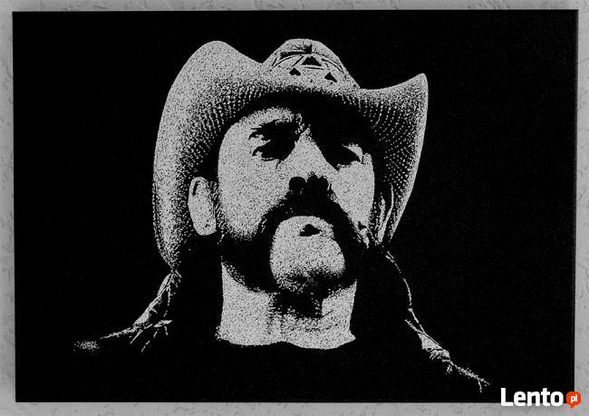 Lemmy Motorhead- Obraz grawerowany ręcznie na blasze...