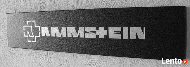 Rammstein logo Obraz wykonany ręcznie metodą grawerowania...
