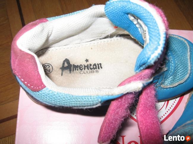 Skórzane adidaski American Club, rozmiar 23