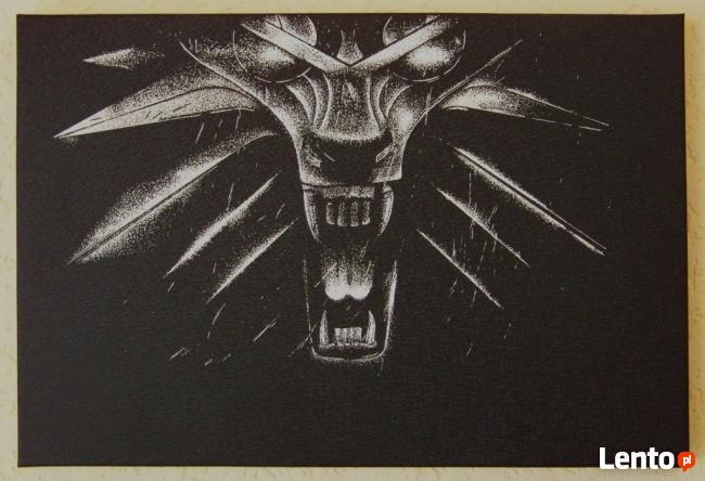 Wiedźmin - Obraz wykonany ręcznie metodą grawerowania...
