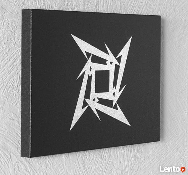 Metallica - logo - Obraz ręcznie grawerowany na blasze...