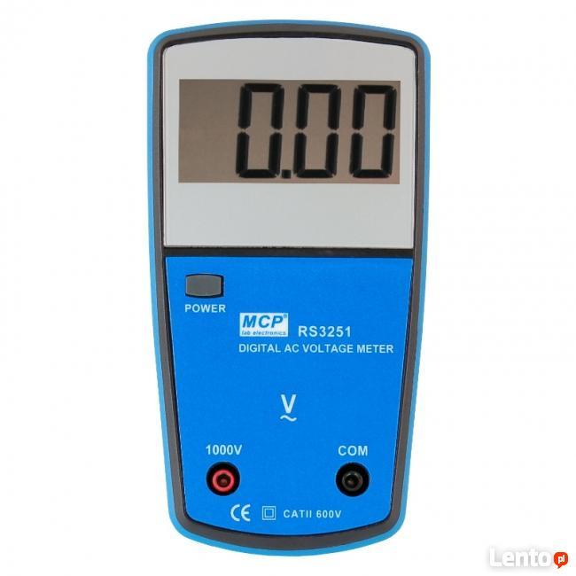 Woltomierz AC szkolny cyfrowy MCP RS-3251