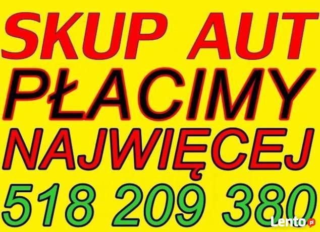 SKUP AUT za gotówkę TARNÓW 518 209 380 AUTO SKUP SAMOCHODÓW