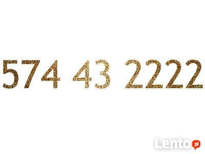574 43 2222 złoty numer Play