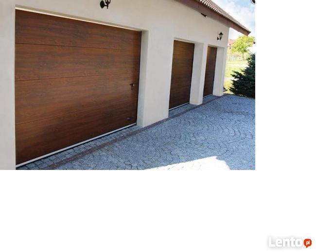 Brama garażowa 300x225cm okleina z napędem bez przetłoczeń