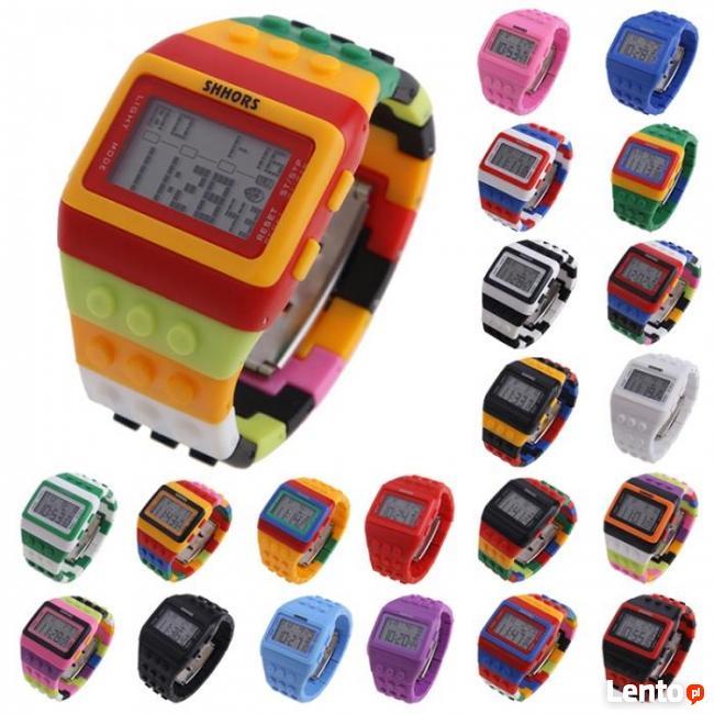LEGO Zegarek Klocek klocki elektroni cyfrowy młodzież dzieci
