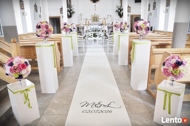 Dekoracje ślubne Weselne Sal Kościołów Rzeszów