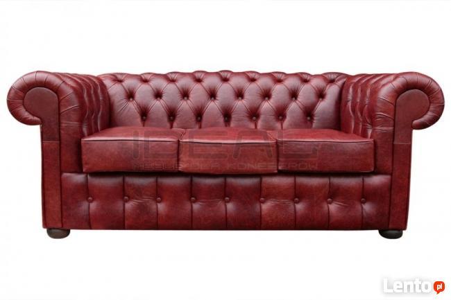 Pikowana Sofa Chesterfield Classic styl angielski
