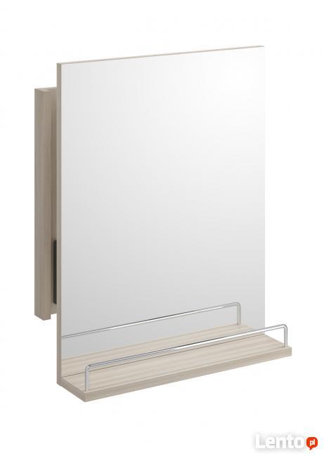 Cersanit Smart - Lustro wysuwane z półką kolor jasny jesion