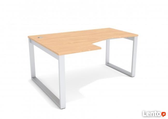 Duże białe biurko kątowe od ręki