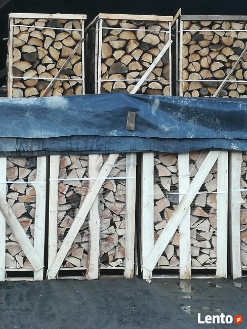 Drewno Opałowe Buk Dąb Drewno Kominkowe Układane Paleta 1mp