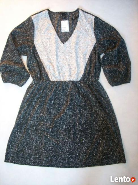 13b384e2e8 H M sukienka Czarno Biała Nowa 42 44 XXL Nowy Sącz
