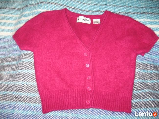 Bordowy sweterek z angory, ok.110cm, używany