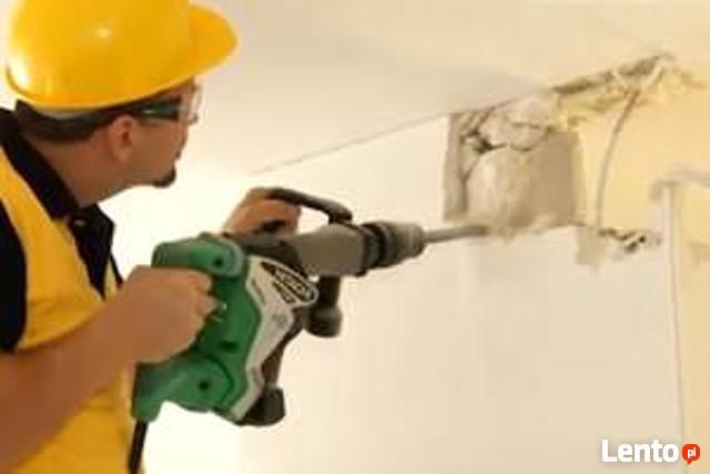 Wyburzanie ścian, Skuwanie Betonu Płytek, Rozbiórka, Kucie