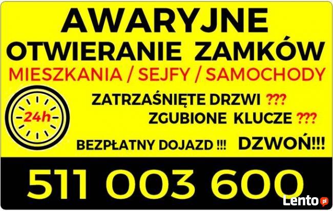 ŚLUSARZ 24 h . BEZPŁATNY DOJAZD !!!