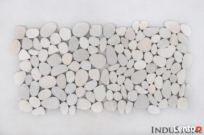 Light Brown Interlock Beżowe Cięte Otoczaki Mozaika Kamienna