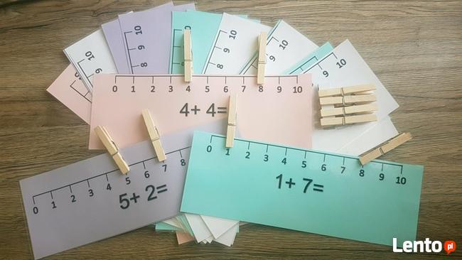 Klamerkowa linijka – zestaw do nauki dodawania w zakresie 10