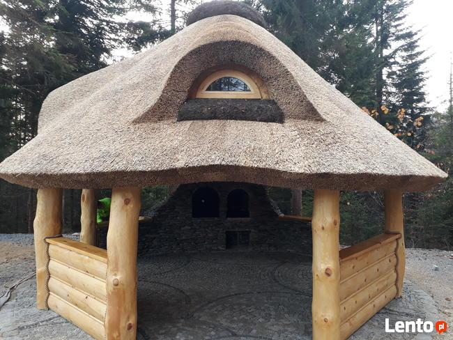 Altany Kryte Trzciną Strzechą Dachy Domki Meble Ogrodowe