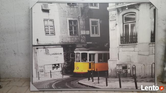 Obraz Ikea z ramą (nowy)- motyw miejski Lizbona 140x100 cm.