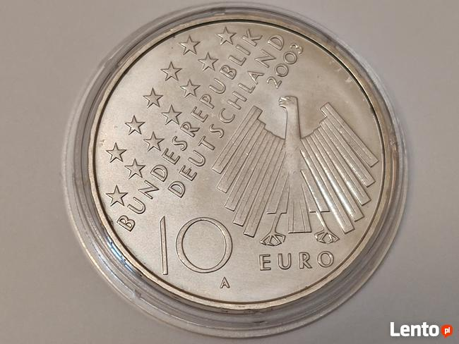 2003r.10 euro moneta Gedenkmünze 50 Jahre 17 Juni 1953 UNC (
