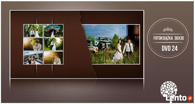 Zestaw foto album ślubny DVD 24 30x30