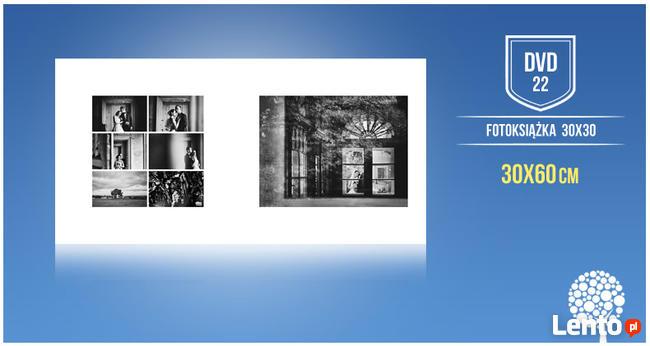 Foto książka ślubna 30x30 szablony DVD22 zaprojektuj album