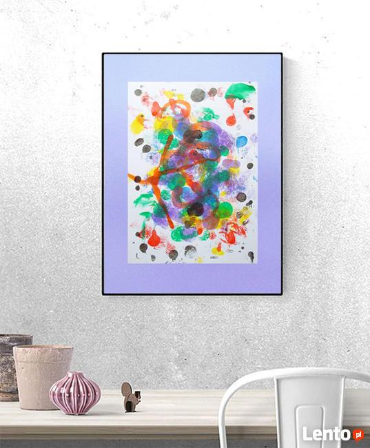 abstrakcja do salonu, loft grafika na ścianę