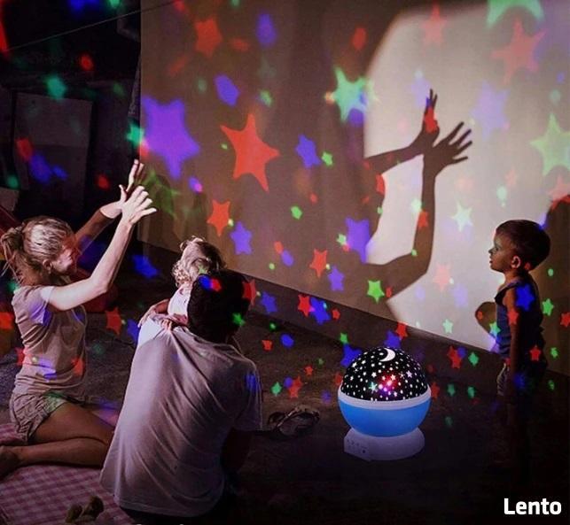 Projektor gwiazd dla dzieci - lampka