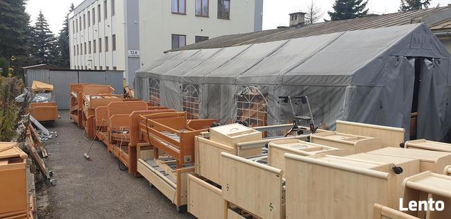 Łóżko rehabilitacyjne elektryczne drewniane szitalne meblowe