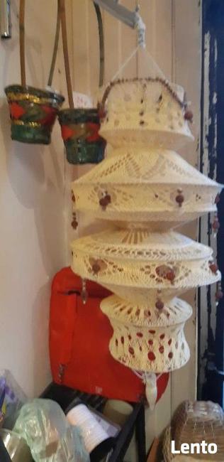 Indyjski abażur ręcznie tkany