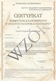 Certyfikat Kompetencji Zawodowych - Licencja transportowa